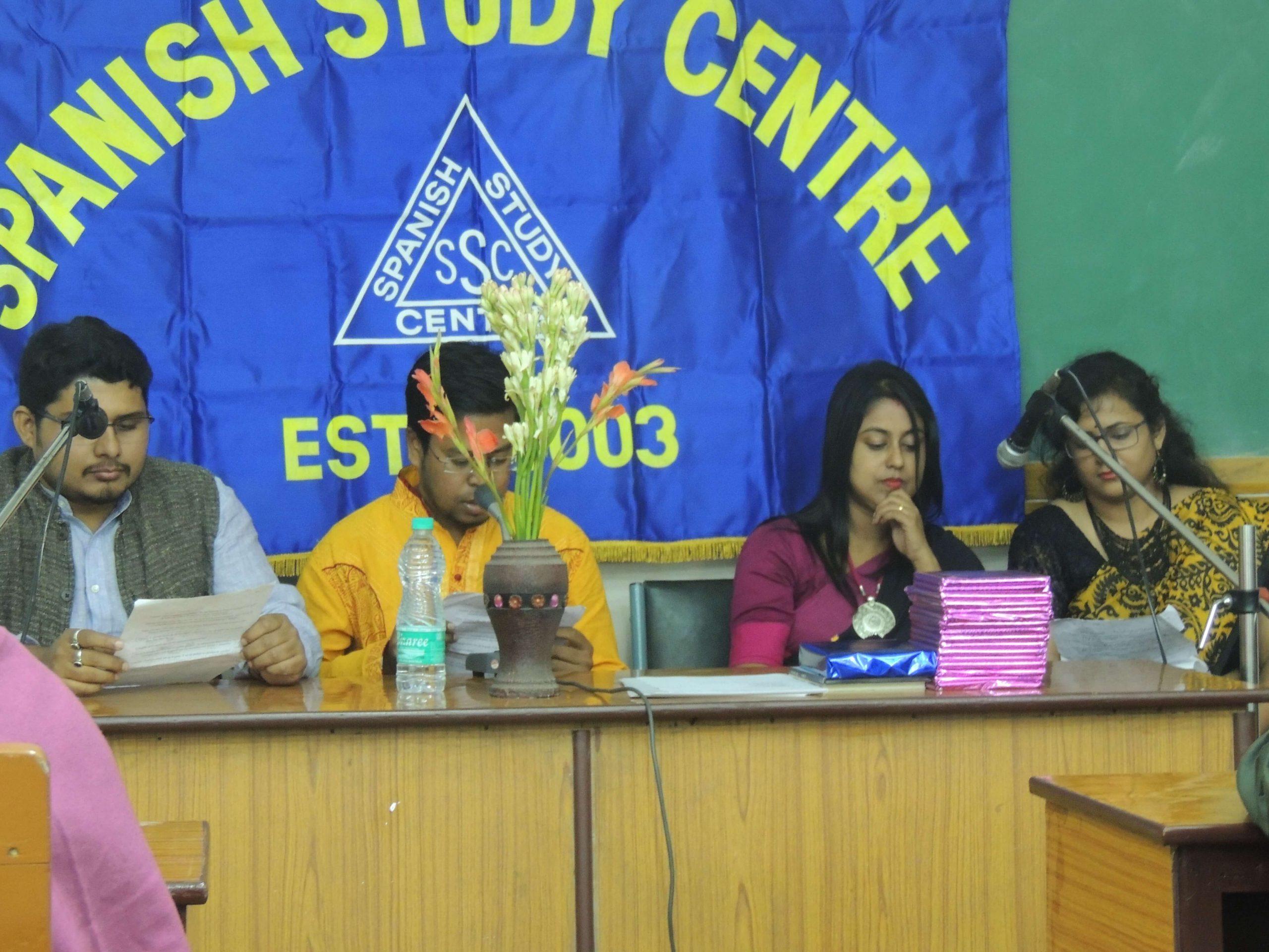 Students participating Audio Drama